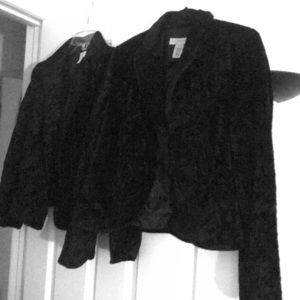 Small fur and suede jackets. Size 6.